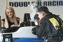 Grid girl and photographer