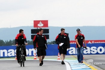 Timo Glock, Marussia F1 Team walks the circuit