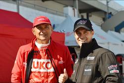 Gabriele Tarquini, SEAT Leon WTCC, Lukoil Racing Team and Tiago Monteiro, SEAT Leon WTCC, Tuenti Racing Team