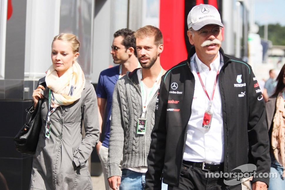 Dr. Dieter Zetsche, Daimler AG CEO with his family