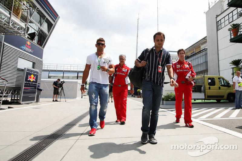 Felipe Massa, Ferrari arrives in the paddock