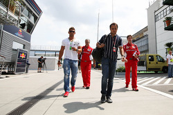 Felipe Massa, Ferrari arrives in the paddock