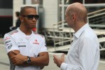 Lewis Hamilton, McLaren with Adrian Newey, Red Bull Racing Chief Technical Officer