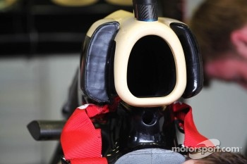 Lotus F1 engine cover detaill