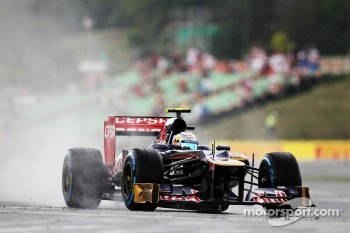 Jean-Eric Vergne, Scuderia Toro Rosso in the wet