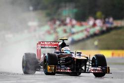 Jean-Eric Vergne, Scuderia Toro Rosso in the wet
