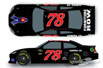 A special paint scheme to honor the victims of the Aurora, Colorado shooting