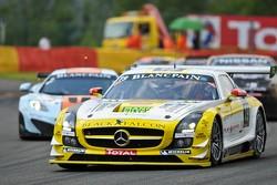 #19 Black Falcon Mercedes-Benz SLS AMG GT3: Oliver Morley, Riccardo Brutschin, Stephan Rosler, Manuel Metzger