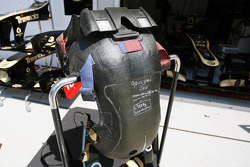 Race seat for Romain Grosjean, Lotus F1 Team
