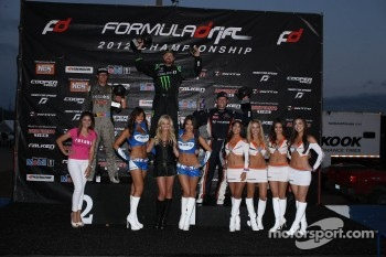 Podium: winner Vaughn Gittin Jr., second place Ryan Tuerck, third place Rhys Millen