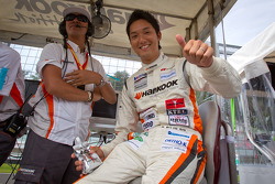 GT300 pole winner Tomonobu Fujii