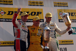 Round 18 Podium: 3rd Gordon Shedden, 2nd Tom Onslow-Cole, 1st Dave Newsham
