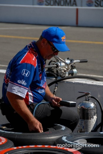 Team A.J. Foyt Enterprices pit stall