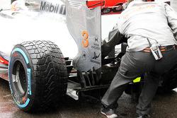 McLaren rear wing detail