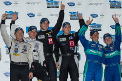 P1, P2 and GT class winners, Eric Lux and Michael Marsal in P1, Christophe Bouchut and Scott Tucker in P2, Wolf Henzler and Bryan Sellers in GT
