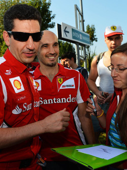 Andrea Stella, Ferrari Race Engineer signs autographs for the fans