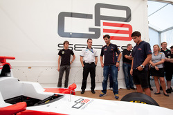 Mark Webber, Red Bull Racing, Mitch Evans and Esteban Gutierrez discover the new GP3/13 car