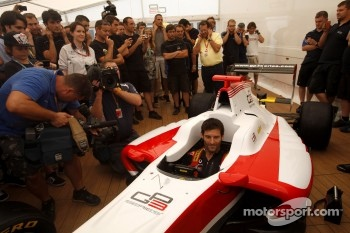 Mark Webber, Red Bull Racing attends the launch of the GP3-13