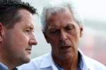 Paul Hembery, Pirelli Motorsport Director with Marco Tronchetti, Pirelli Chairman