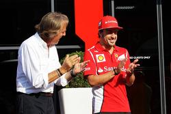 Luca di Montezemolo, Ferrari President with Fernando Alonso, Ferrari
