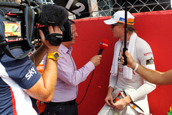 Nico Hulkenberg, Sahara Force India F1 with Martin Brundle, Sky Sports Commentator