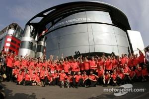 McLaren celebrates last victory at Monza