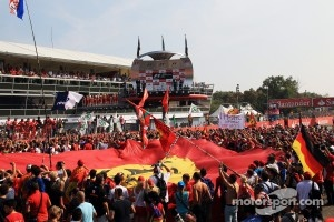 Huge Ferrari flag at Monza