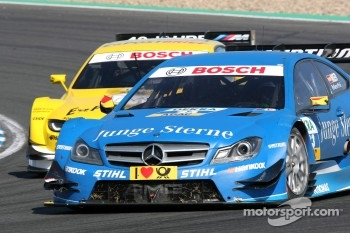 Roberto Merhi, Persson Motorsport AMG Mercedes C-Coupe and Dirk Werner, BMW Team Schnitzer BMW M3 DTM
