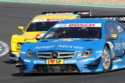 Roberto Merhi, Persson Motorsport AMG Mercedes C-Coupe and Dirk Werner, BMW Team Schnitzer BMW M3 DTM
