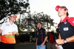 Nico Hulkenberg, Sahara Force India F1 with Sebastian Vettel, Red Bull Racing and Timo Glock, Marussia F1 Team