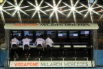 McLaren pit gantry
