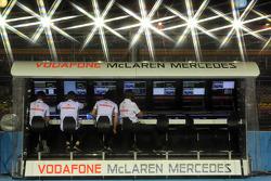 McLaren pit gantry