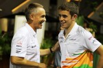 Martin Whitmarsh, McLaren Chief Executive Officer with Paul di Resta, Sahara Force India F1