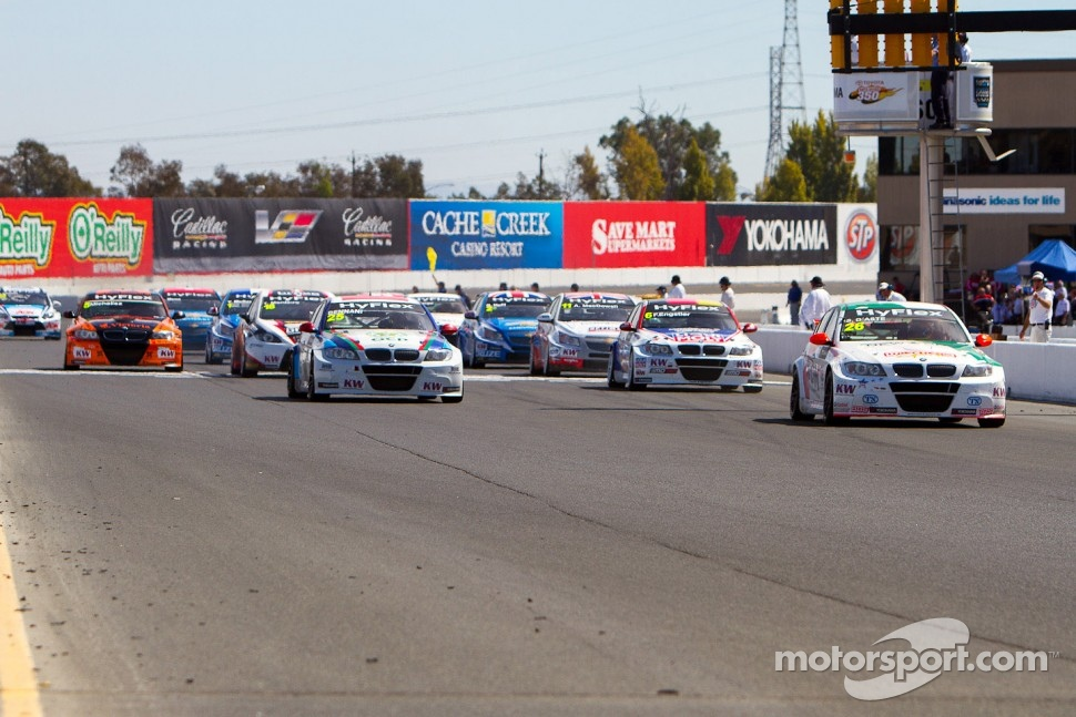 The start of Race 2 in the series USA debut at Sonoma