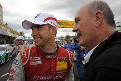 Edoardo Mortara, Audi Sport Team Rosberg; Dr. Wolfgang Ullrich, Audi's Head of Sport