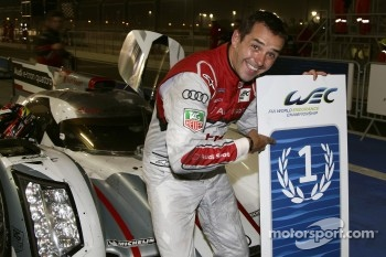 Race winner Benoit Trluyer celebrates