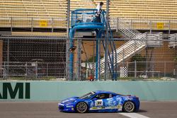 #31 Ferrari of Ontario 458CS: Damon Ockey takes the checkered flag to win the race
