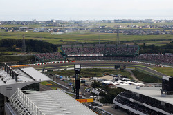 Kamui Kobayashi, Sauber in a scenic view of the circuit