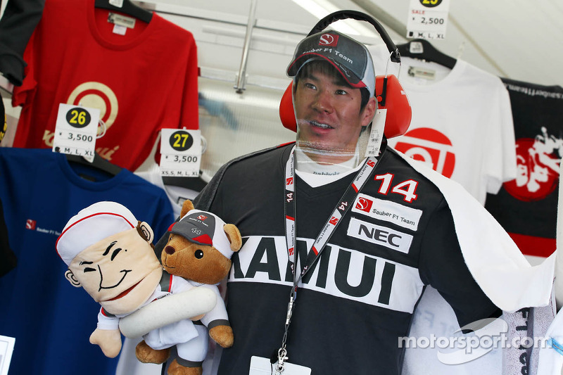 Kamui Kobayashi, Sauber merchandise on sale