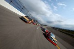 Ty Dillon leads the field during pace laps