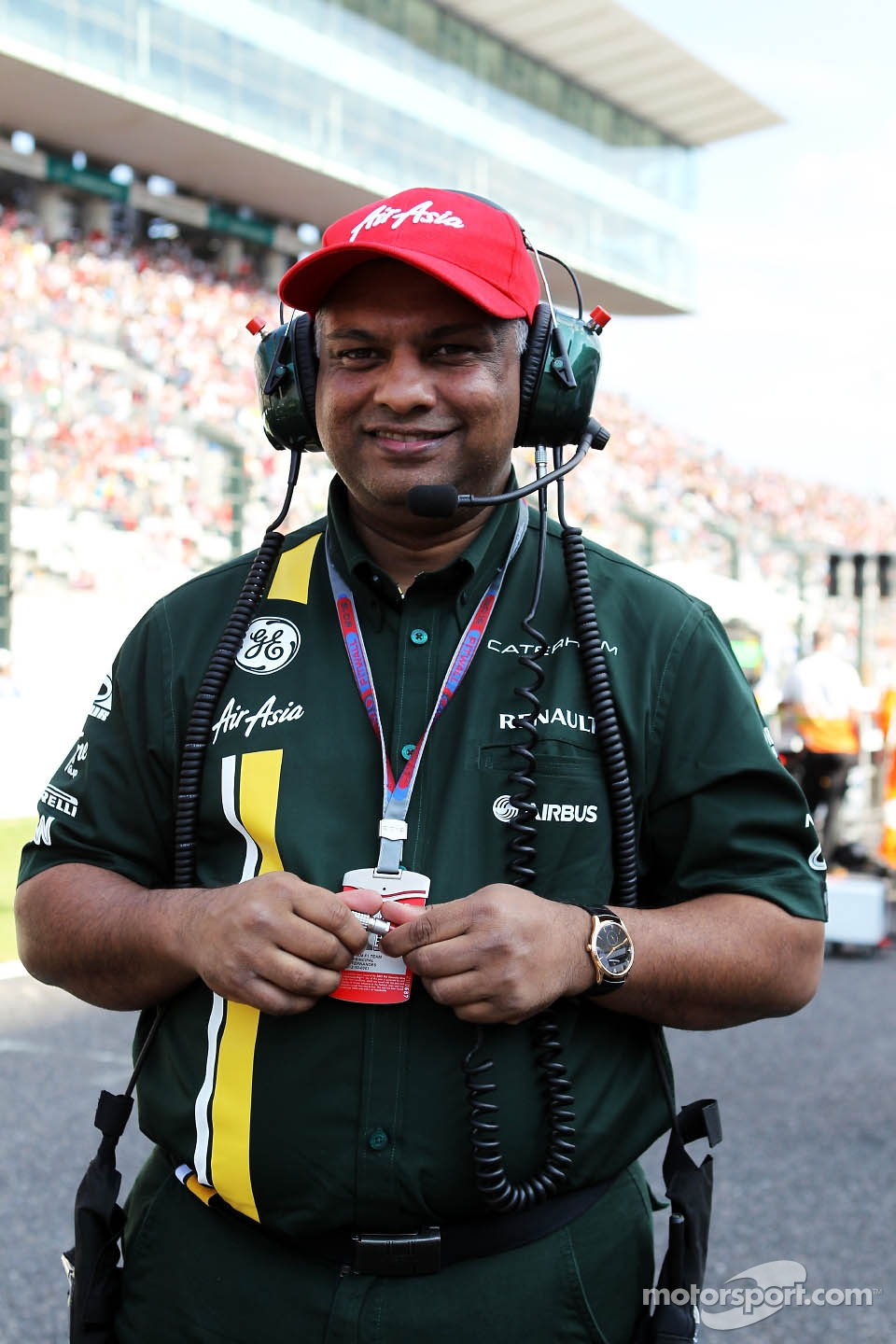 Tony Fernandes, Caterham Team Principal on the grid