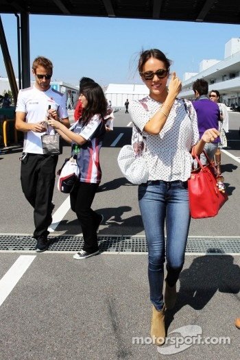 Jessica Michibata, and boyfriend Jenson Button, McLaren