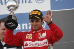 Felipe Massa, Ferrari celebrates his second position on the podium
