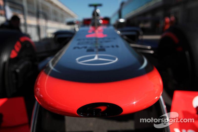 McLaren MP4/27 of Lewis Hamilton, McLaren nosecone