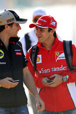 Jerome d'Ambrosio, Lotus F1 Team with Felipe Massa, Ferrari