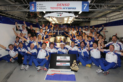 Toyota Racing celebrate the win