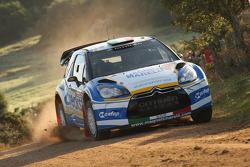 Luca Perdersoli and Matteo Romano, Citroën DS3 WRC