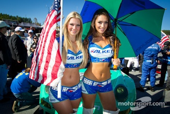 The charming Falken Tire girls