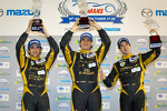 P1 podium: class and overall winners Andrea Belicchi, Neel Jani, Nicolas Prost