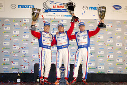 ELMS GT-AM podium: class winners Anthony Pons, Raymond Narac, Nicolas Armindo